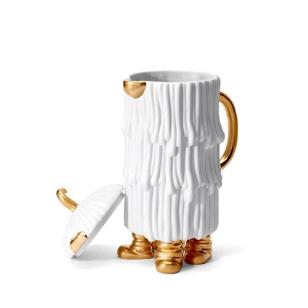 Haas Djuna coffee/ teapot white and gold
