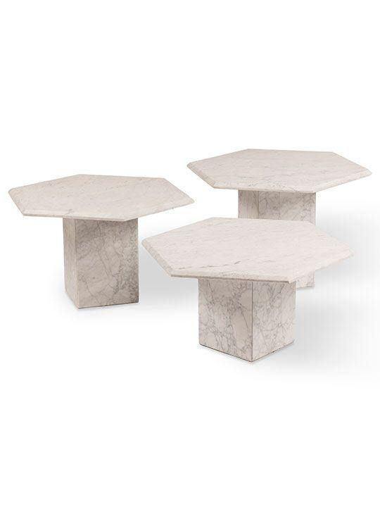 1970's Vintage Marble Coffee Tables