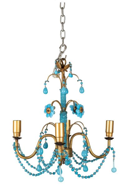 Vintage Beaded Chandelier Extra Small - The Odd Piece