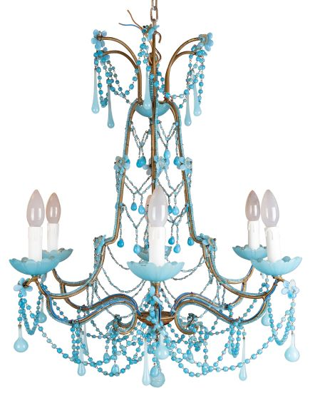Vintage Beaded Chandelier Large