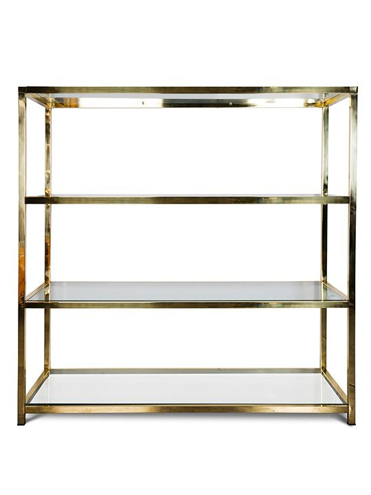 Vintage Spanish Brass Bookshelf