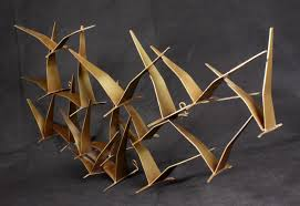 Wall sculpture - Brass Flying seagulls  by Curtis Jere  Dim: L 117 x H58 x D15cm