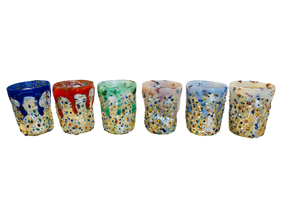 Murano Murrine Glass Set of 6