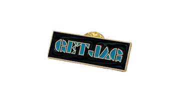Gold Enamel #GetJag Pin