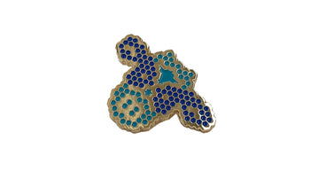Gold Enamel Cow Pin