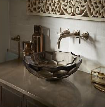 Briolette (Vessel Faceted Glass Sink)