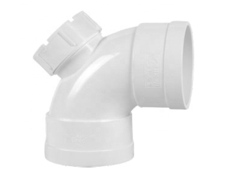 "4"" U-PVC Plug Elbow 90 degree"