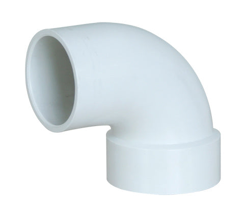 "4"" U-PVC Elbow 90 degree M/F"