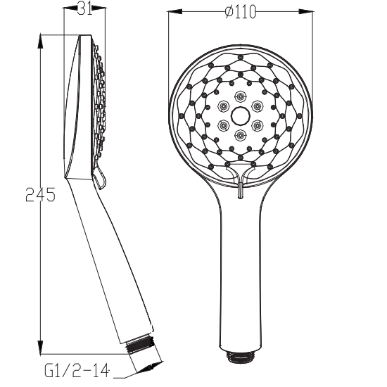 3 Functions Hand Shower | PHS3119D