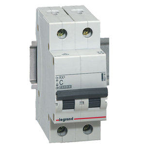 16A 2 Pole / 10KA Miniature Circuit Breaker (MCB)