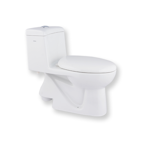 Washdown One-Piece Toilet with Dual Fitting | HD100N