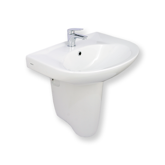 Wash Basin with Half Pedestal | HDLP203AH