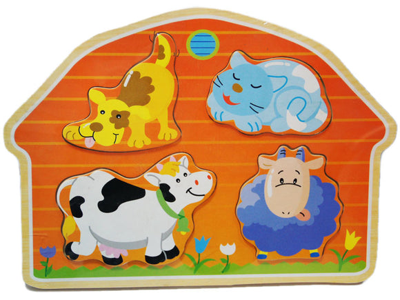 Wooden Puzzle - Animals Home