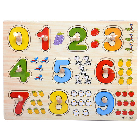 Wooden Puzzle - Number0-9