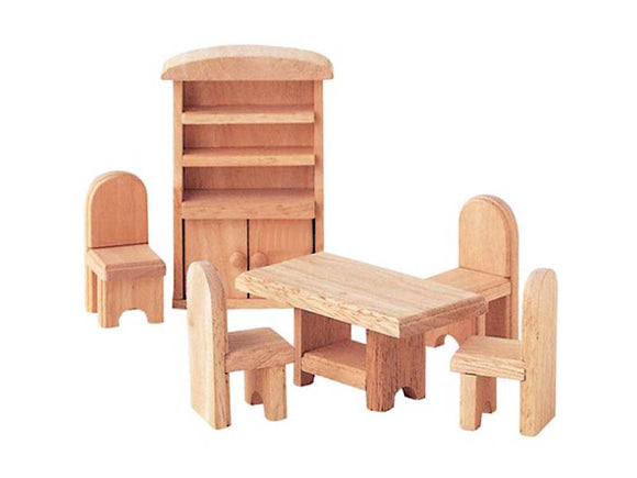 Wooden Doll House Furniture - Classic Dining Room