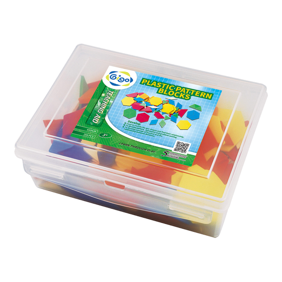 PLASTIC PATTERN BLOCKS (w- Card)