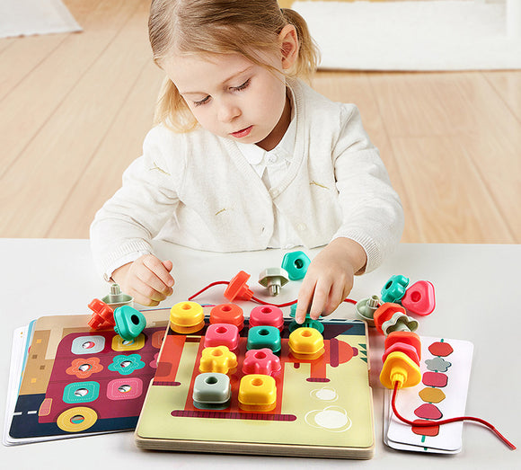 Top Bright Rainbow Stacking Sequencing Box