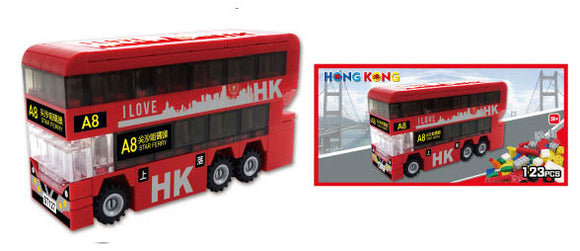 Hong Kong Bricks - Bus (Red)
