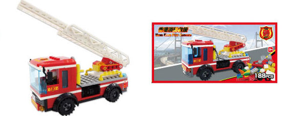 Hong Kong Bricks - Fire Truck w- Ladder