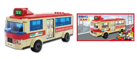 Hong Kong Bricks - Mini Bus 19 Seats(Red)