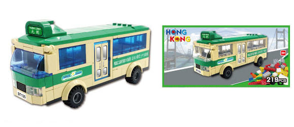 Hong Kong Bricks - Mini Bus 19 Seats(Green)