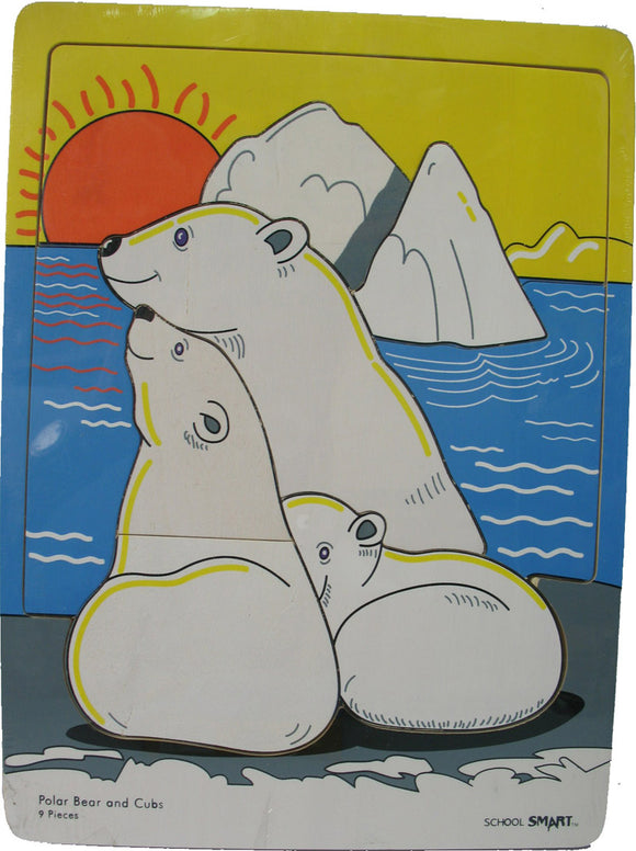 Wooden Puzzle - Polar Bear and Cubs