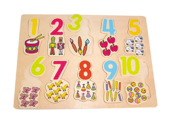 Wooden Puzzle - Number - Object