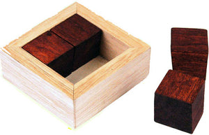 Wooden cube and Cage