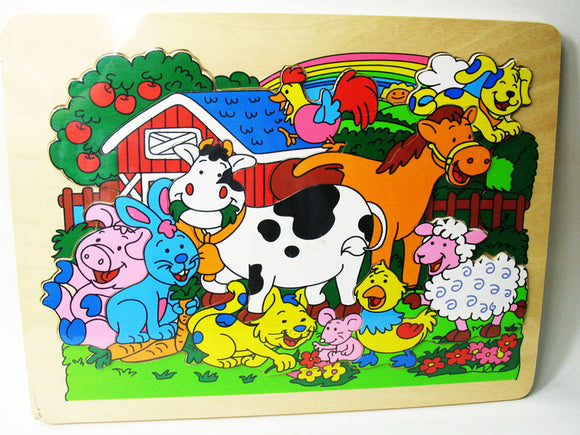 Wooden Puzzle - Happy Farm