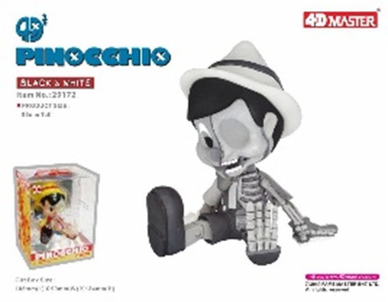 4D Half Pinocchio 96mm (Black & White)