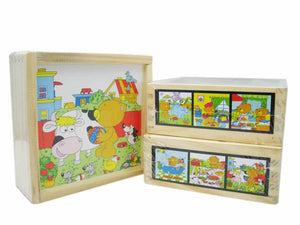 Puzzle Cube - One day of Teddy (9pcs)