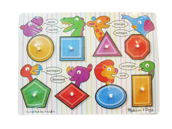 Peg Puzzle see - inside Shapes