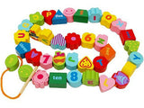 Garden Letter Bead Threading Game