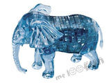 3D Crystal Puzzle - Elephant (Smoke Blue)