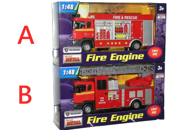 Pull Back 1:48 Scania Fire Engine