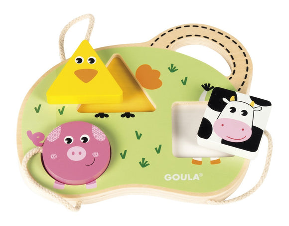 Goula - 3 Farm Animals Puzzle