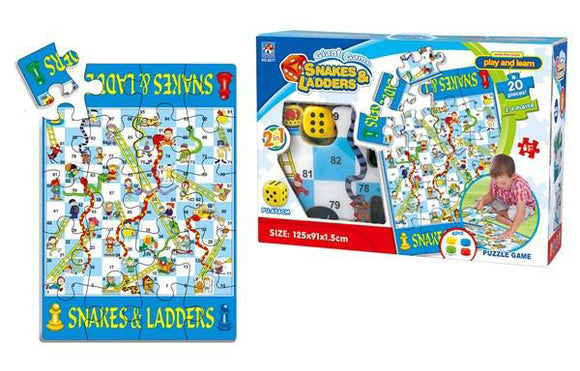 Great Puzzle Carpet - English snakes & ladders Chess