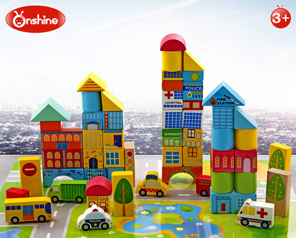 Onshine Municipal Transportation Blocks (62 pcs)