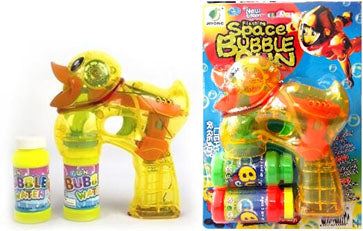 Electric duck bubble gun with light