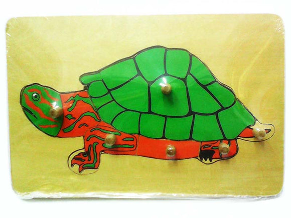 Wooden Puzzle w-handle - Turtle Anatomy