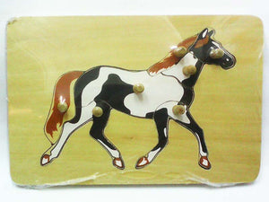 Wooden Puzzle w-handle - Horse Anatomy