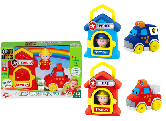 Press N Go Citi Heroes Playset