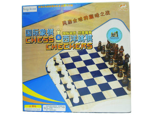 Wooden Chess & Checkers