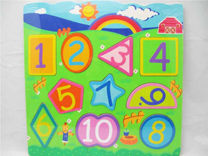 Wooden Puzzle - Number Shape