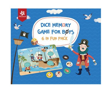 Pinwheel Dice Memory Game for Boy