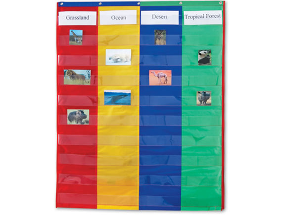 2- & 4- Column Double-Sided Pocket Chart