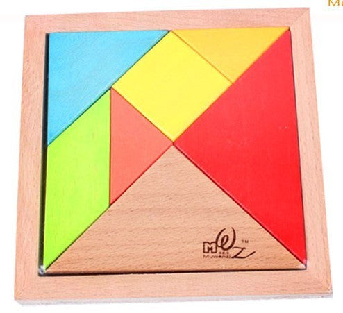 Deluxe Seven-pieces wooden Tangram