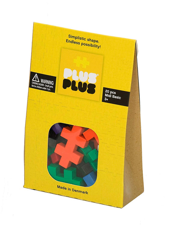 PLUS PLUS - Midi Basic 20 Pcs - Building Set
