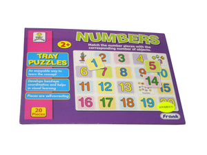 Tray puzzles (numbers)