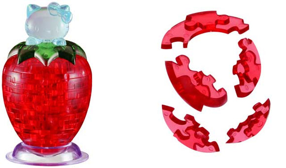 3D Crystal Puzzle - Hello Kitty Strawberry